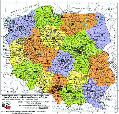 Mapa geotermalna Polski